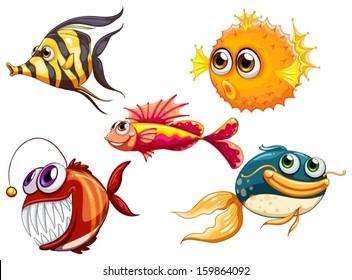 cartoon sea creatures images stock photos vectors shutterstock rh shutterstock com sea animal clipart for kids sea animals clipart black and white