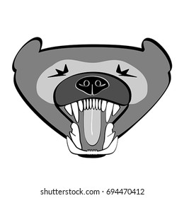 Illustration of a growling wolverine portrait.