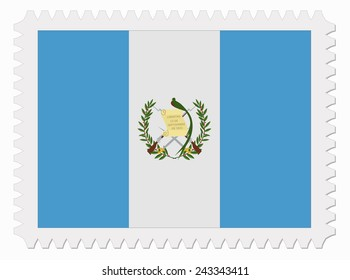 illustration Guatemala flag stamp