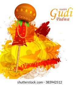 illustration of Gudi Padwa celebration of India.