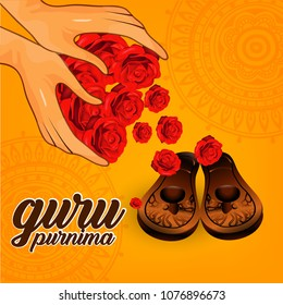 Illustration for Guru Purnima is a Nepalese and Indian festival dedicated to spiritual and academic teachers.
