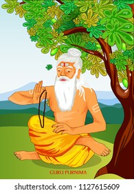 Illustration for Guru Purnima is a Nepalese and Indian festival dedicated to spiritual and academic teachers