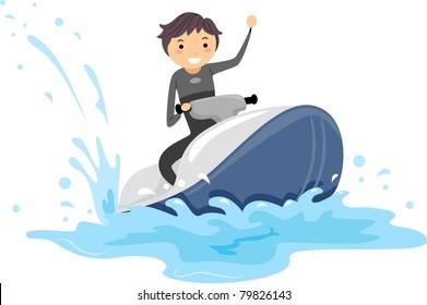 Jet Ski Cartoon Images Stock Photos Vectors Shutterstock