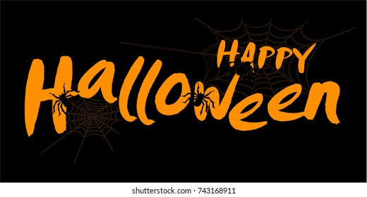 Illustration of a Halloween Background. Vector wallpaper.