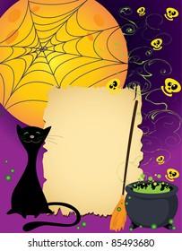 illustration of a Halloween cute card