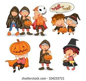 Illustration of halloween objects