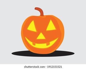 An illustration of Halloween's pumpkin