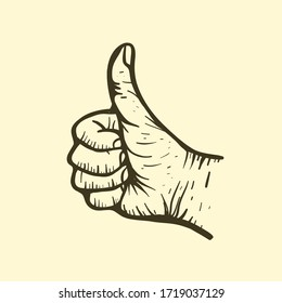 An illustration of a hand gesture sign for all good.