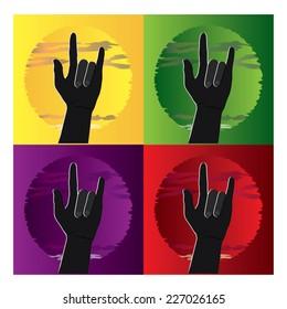 Illustration of hand sign