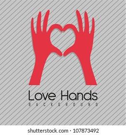 illustration of hands forming a heart, vector illustration