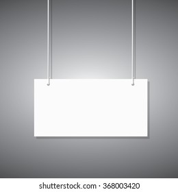 Illustration of a hanging sign against