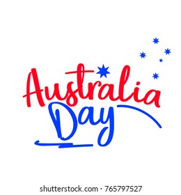 Illustration Of Happy Australia Day Poster Or Banner Background.