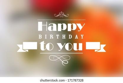 illustration of Happy Birthday Typography background