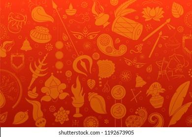 illustration of Happy Durga Puja Subh Navratri background