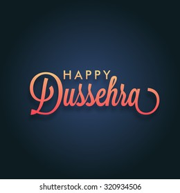illustration of Happy Dussehra Holiday background.