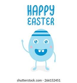 Illustration happy easter egg