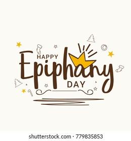 Illustration Of Happy Epiphany Day Background.