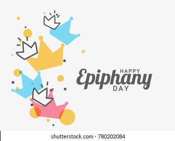 Illustration Of Happy Epiphany Day Greeting Card Design.