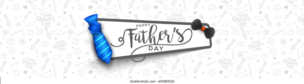 Illustration Of Happy Fathers Day Greeting Card Background.