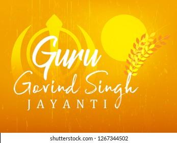 illustration of Happy Guru Gobind Singh Jayanti festival for Sikh celebration background - Vector