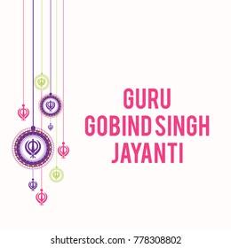 Illustration of Happy Guru Gobind Singh Jayanti.