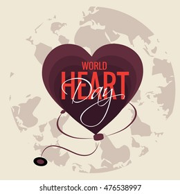 Illustration Happy Heart Day background