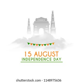 Illustration Of Happy Independence Day Background.