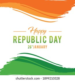 Illustration of Happy Indian Republic day celebration poster or banner background. Vector Illustration