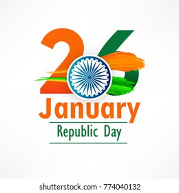 Illustration of Happy Indian Republic day 26 January celebration (honors the date on which the Constitution of India formed ) poster or banner background social media website header use for promotion.