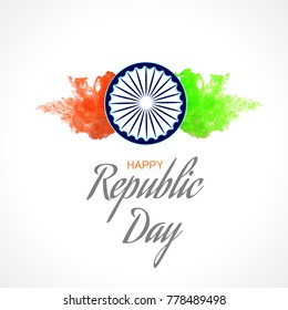 Illustration of Happy Indian Republic day poster or banner background,26 January background.