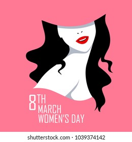 illustration of Happy International Women's Day 8th March greetings background