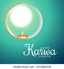 Illustration Of Happy Karwa Chauth Background. - Shutterstock ID 1211843134