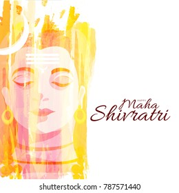 Illustration Of Happy Maha Shivaratri Hindu Festival,Poster Or Banner Background.