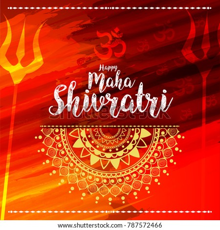 Illustration happy maha shivratri greeting card stock vector illustration of happy maha shivratri greeting card design m4hsunfo
