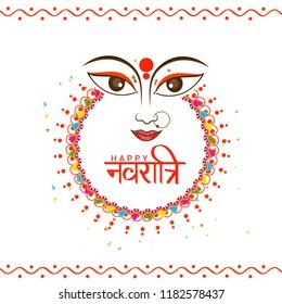 Illustration Of Happy Navratri Celebration Poster Or Banner Background.