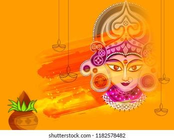 Illustration Happy Navratri Celebration Poster Banner Stock Vector Royalty Free 1182578482