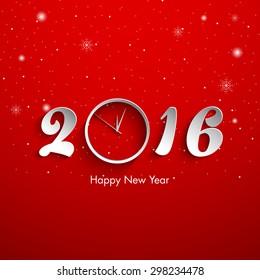Illustration of happy new year,2016.