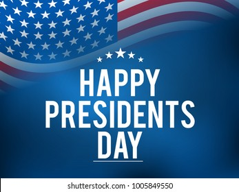 Illustration Of happy Presidents Day Background.