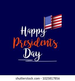 Illustration Of Happy Presidents Day Background.