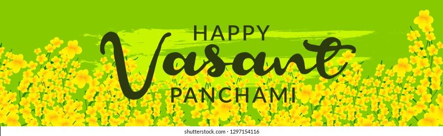 Illustration Of Happy Vasant Panchami Background.