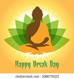 Illustration Of Happy vesak Day
