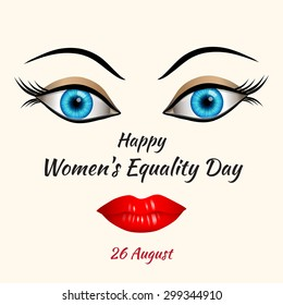 Illustration of Happy Womens Equality Day concept. 26 august