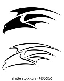 illustration of a hawk set