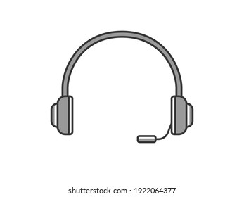Illustration of a headphone microphone.