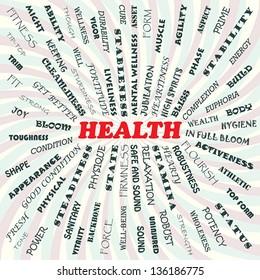 illustration of health concept.