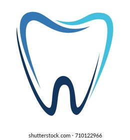 Illustration of a healthy tooth. Logo for a dental clinic