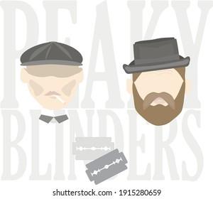 illustration of heroes peaky blinders vector