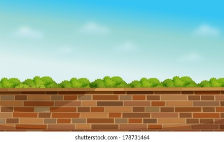 Illustration of a high stonewall