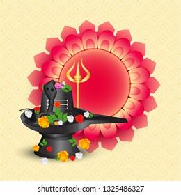 Illustration of Hindu Festival Maha Shivratri Background.