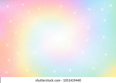 Illustration of holographic fantasy background and pastel color. rainbow background